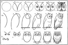 Stuff to Teach / My Owl Barn: Vintage Printable: Draw Some Owls on we heart it