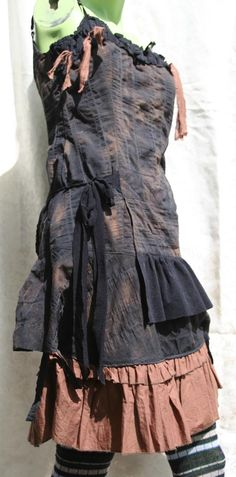 Post Apocalyptic Dress Chimney Sweep Steampunk by Bloodbath, $95.00