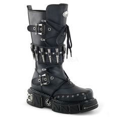 DMA 3002 are a style of men s 12 tall calf boots with mid platform and  bullet strap design. c02627ea4c1