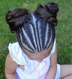 For when I am feeling super motivated. For when I am feeling super motivated. Cute Hairstyles For Kids, Baby Girl Hairstyles, Kids Braided Hairstyles, Creative Hairstyles, Box Braids Hairstyles, Curly Hair Styles, Natural Hair Styles, Loose French Braids, Girls Braids