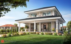 Simple Bedroom Design, Home Room Design, Home Design Plans, Villa, Modern House Floor Plans, House Outside Design, 2 Storey House Design, Mediterranean House Plans, Architectural House Plans