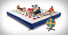 Massive Outdoor Inflatable Twister Game | Cool Shit You Can Buy - Find Cool Things To Buy