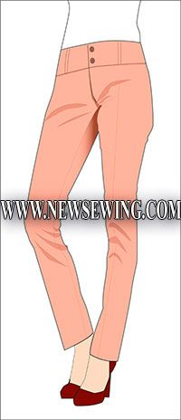 Very basic slim fitting pants - waist 72cm, hips - 96cm