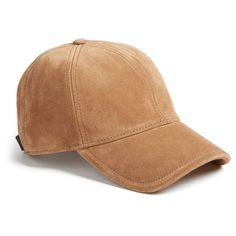 Women's Rag & Bone 'Marilyn' Suede Baseball Cap (2.235 ARS) ❤ liked on Polyvore featuring accessories, hats, camel, ball cap, camel hat, american hats, baseball cap hats and suede hat