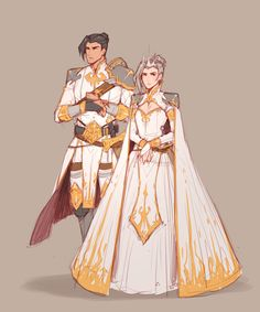 My original characters Esther and Cif Fantasy Character Design, Character Drawing, Character Design Inspiration, Character Concept, Dnd Characters, Fantasy Characters, Fictional Characters, Pretty Art, Cute Art