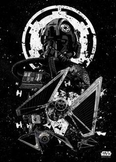 "Want a metal print copy?: Visit Store Description: Official Star Wars Pilots TIE Striker artwork by artist ""Star Wars"". Star Wars Fan Art, Ver Star Wars, Star Wars Ships, Star Wars Galactic Heroes, Star Trek, Poster S, Star Wars Poster, Poster Prints, Star Wars Tattoo"