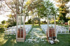 Outdoor wedding ceremony inspiration. // Photo: Michael Segal Weddings.