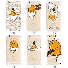 Cute Cartoon Japanese Gudetama Egg Clear Case Cover For Iphone 6/6S/6+/6S+