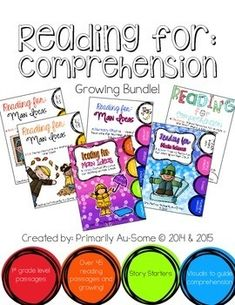 Reading For: Comprehension Bundle with Visual Supports by Primarily Au-Some