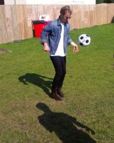 "tom-odell-artist: ""Tom playing football """