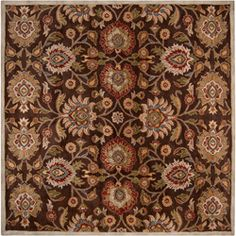 Hand-tufted Wool Chocolate Waltzer Rug (9'9 x 9'9) | Overstock.com Shopping - Great Deals on Round/Oval/Square
