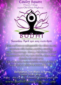 Bodhi Holistic Festival: http://www.soflanights.com/?p=129456
