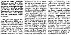 """""""Artikel aus der Chiemgau-Zeitung"""" Hans Fritz vom Simmernhof"""