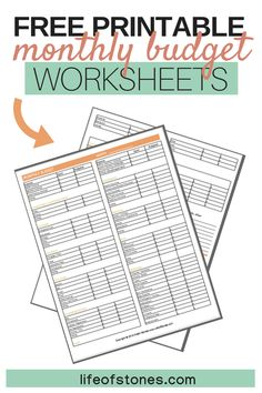 90 Best Budgeting Worksheets Images Budget Sheets Budget