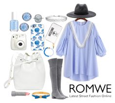 """""""romwe dress"""" by roos-sparnaaij ❤ liked on Polyvore featuring Gianvito Rossi, rag & bone, Kate Spade, Mansur Gavriel, Fujifilm, Moschino, Glitter Pink, Essie, Humble Chic and Thornback & Peel"""