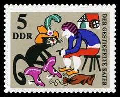 stamp  -    I love to collect stamps a lot!!!!!! And this one is Puss and  boots;