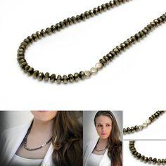 Sweet pyrite necklace. #jewellery #jewelry #fashion #style #necklace #gemstone #handmade #handpickedclub @handpicked_club