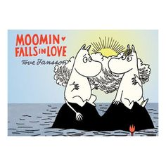 """Moomin Falls in Love  With Moominvalley underwater, will Moomin's romantic tendencies get him in trouble? """" Another classic Moomin story reworked in full color, with a kid-proof but kid-friendly size, price, and format."""" Moominvalley is flooded, so Snorkmaiden and Moomin head out to rescue anyone stranded in the deluge."""