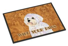Puppy Cut Maltese Wipe your Paws Indoor or Outdoor Mat 24x36 SS4898JMAT
