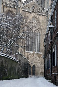York England in the Snow