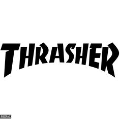 Brand New Thrasher Logo Sticker and in stock. Self-adhesive, die cut, pre-masked and ready to apply to any smooth surface. High glossy finish, cut from premium 3 mill vinyl, with a life span of 5 - 7 years. Custom Decals, Vinyl Decals, Clothing Brand Logos, Thrasher Magazine, Word Mark Logo, Famous Logos, App Logo, Logo Sticker, Logo Design Inspiration