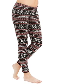 All's Fair Isle Leggings - Novelty Print, Holiday, Rustic, Skinny, Fall, Winter, Knit, Best, Low-Rise, Ankle, Black, Multi