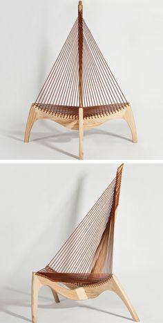 Jorgen Hovelskov Style Harp Chair
