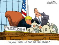 The Buck Stops Here ... So Lock Him Up! | by Bill Schorr on Cagle Cartoons