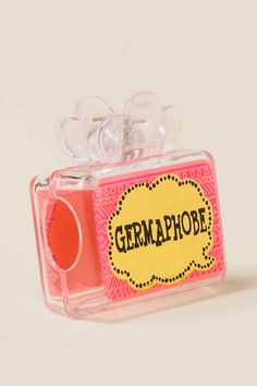 """The Germaphobe Toothbrush Holder has a fun thought bubble design with the sentiment, """"Germaphobe."""" It's packaged on a toothbrush-shaped cardboard backer card, making them easy and great gifts! Toothbrush Holders, Im Happy, Decoration, Gifts, Decor, Presents, I Am Happy, Toothbrush Holder, Decorations"""