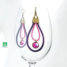 Fiolet i magenta  kolczyki wiszące (sprzedawca: POSITIVE GALLERY), do kupienia w DecoBazaar.com