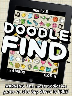 Doodle Find - like a cross between Pictureka and Tetris.  Very addictive, all ages.