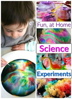 These are such fun, at home science experiments for preschoolers. Kids will love the awesome reactions and WOWs and Moms Kid Experiments At Home, Science Experiments For Preschoolers, Cool Science Experiments, Easy Science, Science For Kids, Science Projects, Educational Activities For Preschoolers, Creative Activities For Kids, Steam Activities