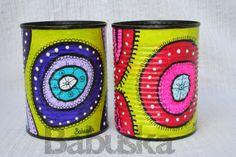 Latas recicladas Tin Can Crafts, Clay Pot Crafts, Arts And Crafts, Decor Crafts, Diy Crafts, Tin Can Art, Paper Plants, Trash Art, Painted Pots