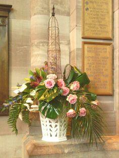 A beautiful arrangement featuring roses
