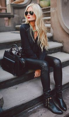 Hit the town in these vegan leather leggings featuring a stretch panel at waist and stretch fabric. Your winter wardrobe won't be complete without