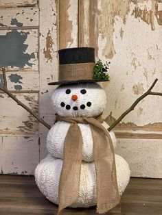 Snowman Crafts, Tree Crafts, Christmas Projects, Holiday Crafts, Diy Snowman Gifts, Handmade Christmas Crafts, Christmas Snowman, Simple Christmas, Christmas Ornaments