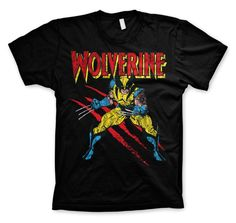 Marvel Wolverine Scratches Koszulka Męska