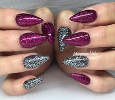 I love the colors together. And the glitter