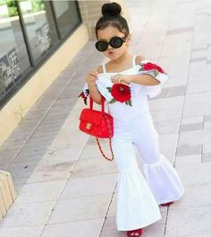New Fashion Sleeveless Wide Leg Romper Baby Girl Fashion, Kids Fashion, Style Fashion, Fashion Beauty, Little Girl Dresses, Girls Dresses, Kids Outfits, Cute Outfits, Indian Fashion Trends