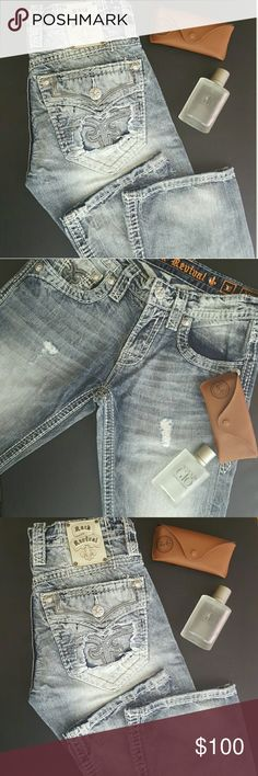 ! 1 HR SALE !  Rock Revival Jeans NWOT Men's Rock Revival Jeans - NO imperfections. Only tried on. These are a 30x34. Style - Slim bootcut. Please ask any questions you may have. Rock Revival Jeans Bootcut