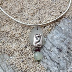 Sea Glass Beach Glass Choker Necklace. by JabberDuck on Etsy, $24.77
