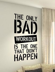 Exercise Health Body Workout Motivational Fitness Gym Life workout Quote wall vinyl decals stickers & Workout Motivational Fitness Gym Life Quote wall vinyl decals ...
