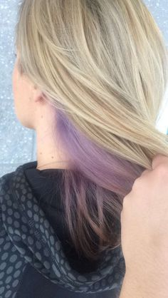 Peekaboo lilac with ash blonde highlights