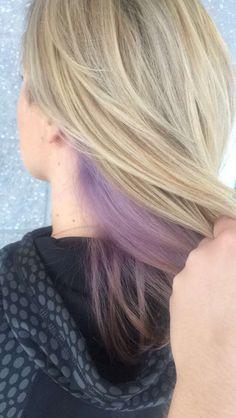 Peekaboo lilac with ash blonde highlights Peekaboo lilac with ash blonde highlights Pastel Purple Hair, Lilac Hair, Ombre Hair, Balayage Hair, Peekaboo Hair Colors, Peekaboo Highlights, Hair Highlights, Lavender Hair, Lavender Color