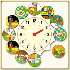 Z Preschool Education, Kindergarten Activities, Activities For Kids, Math Clock, Little Einsteins, Story Sequencing, Blog Backgrounds, Kids Calendar, Teaching Time