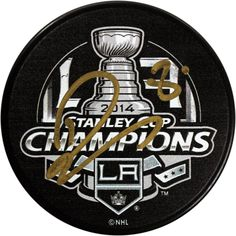 Drew Doughty Signed Los Angeles Kings 2014 Stanley Cup Champions Puck