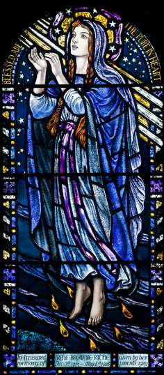 St Columba, designed and made by Karl Parsons, 1913, from St Michael