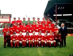 Manchester United's official squad photo was taken without Sir Alex Ferguson for the first time in 27 years today, as David Moyes filled the managerial hot seat. Manchester United Official, Matt Busby, Man Utd Fc, Eric Young, David Moyes, Bobby Charlton, Laws Of The Game, Squad Photos, Sir Alex Ferguson