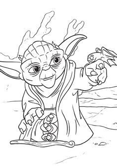 kolorowanka Star Wars - malowanka mistrz Yoda nr 1