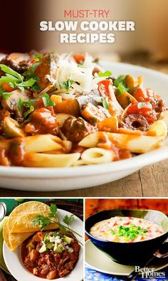 Beat the winter blues with the season's best slow cooker recipes: http://www.bhg.com/recipes/slow-cooker/soup-chili/winter-slow-cooker-recipes/?socsrc=bhgpin122813slowcookerrecipes